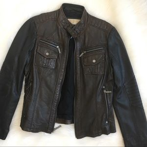 NWOT Michael Kors leather moto jacket